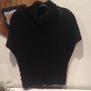Cowl-neck sweater with dolman sleeves