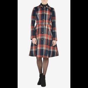 eshakti Jackets & Blazers - New Eshakti Plaid Fit & Flare Coat 22W