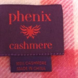 Phenix Accessories - Plaid Cashmere Scarf