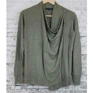 Banana Republic Sage Green Ribbon Fasten Sweater
