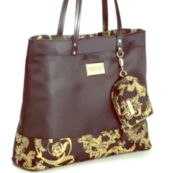 offer discounts 100% top quality various colors Versace Fashion Black Gold Tote Bag Purse