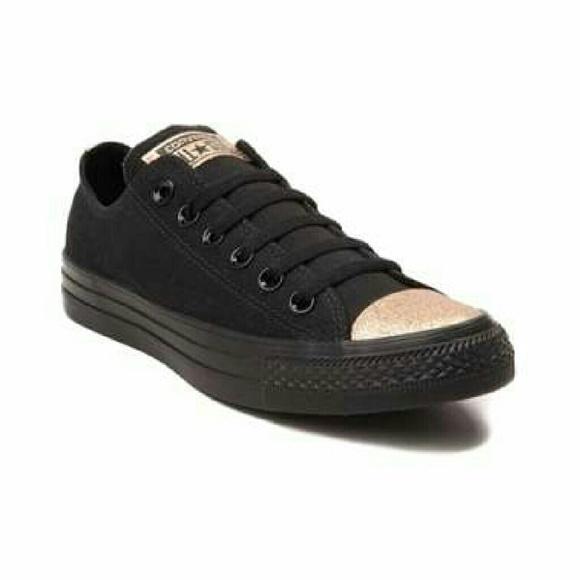 022889f0d65a Converse Shoes - Converse Chuck Taylor All Star Lo Glitter Toe Snea