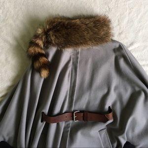 Alexander McQueen Jackets & Blazers - Alexander McQueen cape w/fur stole