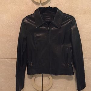 Guess Jackets & Blazers - Guess genuine leather moto jacket in black
