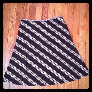 Harold's Black Embroidered Knee Length Skirt