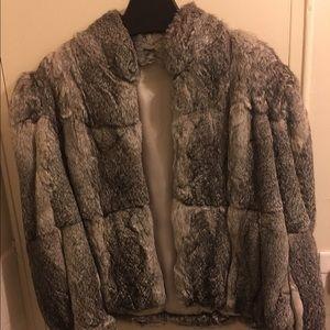 Ada Jackets & Blazers - Vintage Rabbit Fur Coat