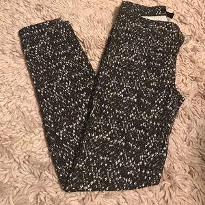 H&m high waist printed pants