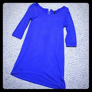 Zara royal blue tunic top with back zip