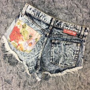 The Laundry Room Pants - THE LAUNDRY ROOM Acid Wash Distressed Denim Shorts