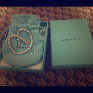 Tiffany & Co. Jewelry - Tiffany bead heart charm bracelet