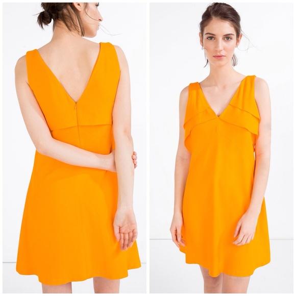 a8923806 Zara Dresses | Orange Dress New With Tag | Poshmark