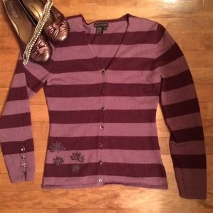 Royal Robbins Sweaters - Royal Robbins Burgundy/Purple Cardigan