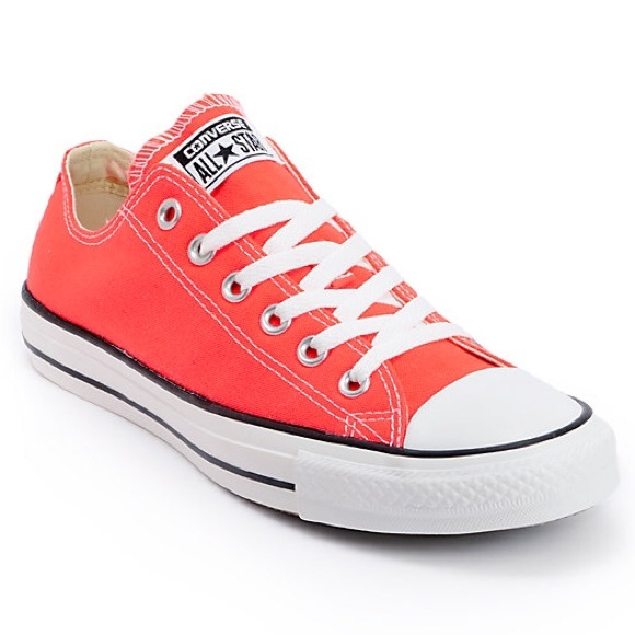 ✨NEW✨Converse All Star Chuck Coral Pink Low Canvas NWT