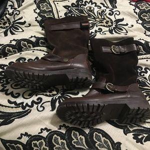 Rocket Dog Shoes - Rocket Dog brown boots size 6.5
