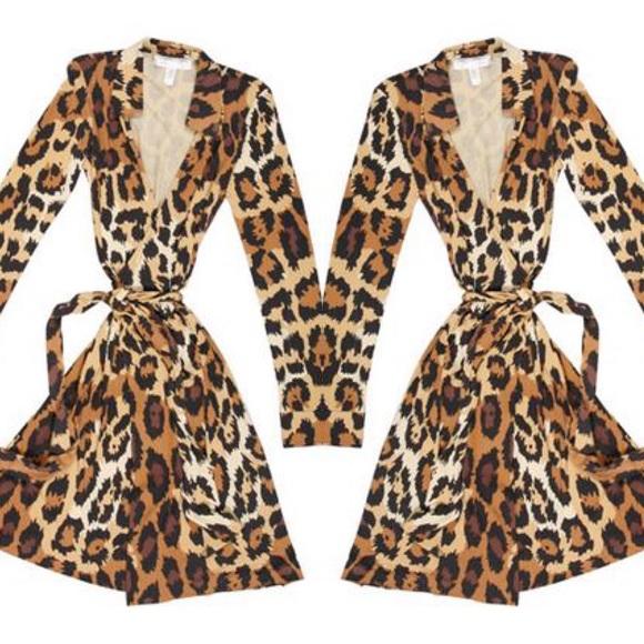 787b18b111dc Diane von Furstenberg Dresses & Skirts - DVF Leopard Print Wrap Dress New  Jeanne Two
