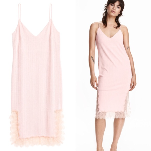 75% off H&M Dresses & Skirts - H&M Pale Pink Slip Dress from ...