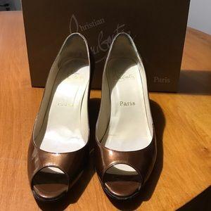 Christian Louboutin Shoes - Christian Louboutin copper metallic wedge
