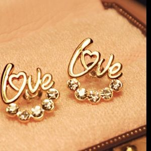 Jewelry - New gold plated Love earrings available now