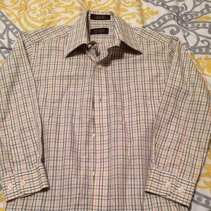 Hickey Freeman Other - HICKEY FREEMAN 100% Cotton Sz 8 Long Sleeve Plaid