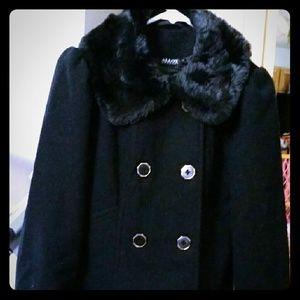 ALLOY Jackets & Blazers - NWOT'S Alloy black pea coat sz med