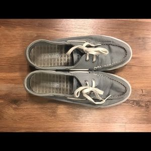 Sperry Top-Sider Shoes - Women's Biscayne Grey Sperry Top-Sider Boat Shoes