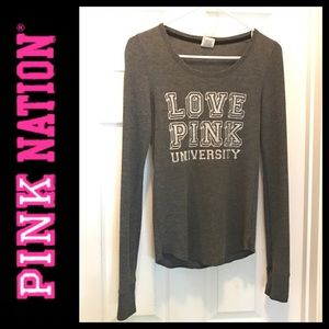 Victoria's Secret Pink grey long sleeve thermal.