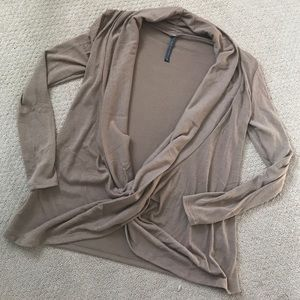 Rags and Couture Tops - Wrap front sweater