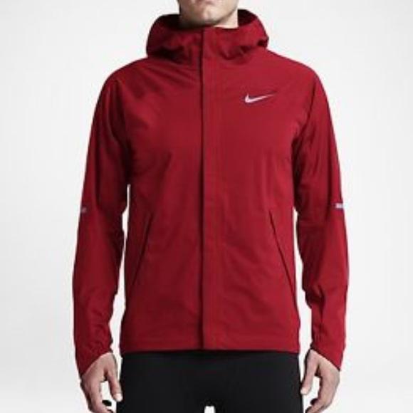 930087be9c23 New Medium Nike Shield Runner Running Jacket Red