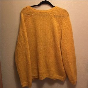 e7a0f42d09 American Apparel Sweaters - AMERICAN APPAREL Yellow Mohair Oversized  Cardigan