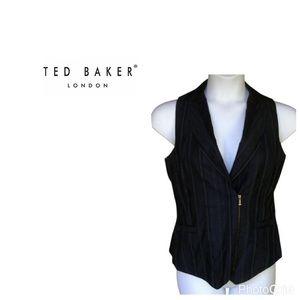 Ted Baker women's stripe zip up vest