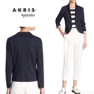 "Akris Jackets & Blazers - Akris Punto ""Solid jersey "" blazer - navy"