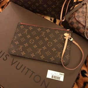 authentic LV neverfull mono MM POuch