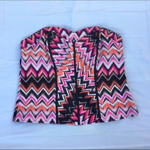 Ashley Stewart Tops - BNWOT Ashley Stewart chevron-print bustier 2X