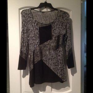 Black w/gray zipper top. Classy