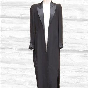 Alberto Makali Jackets & Blazers - Vintage Alberto Makali Long Satin Trim Tuxedo Coat