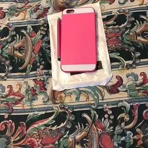 iPhone 6/6s Plus pink case with touch pen