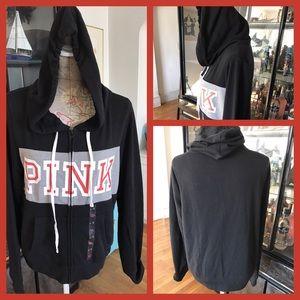 PINK Victoria's Secret Tops - BNWT Pink VS Full Zip Hooded Sweatshirt