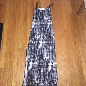 Michael Kors Tye Dye Print Maxi Dress