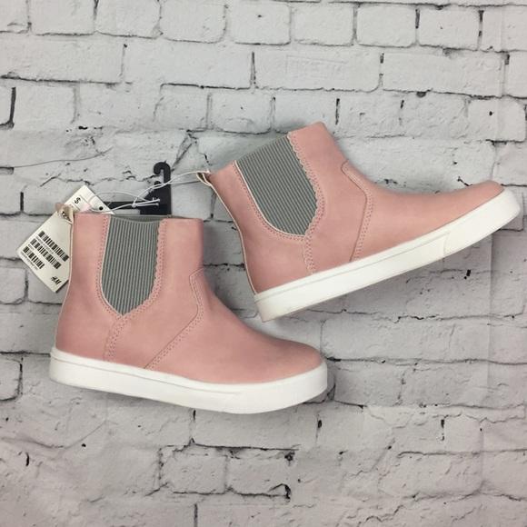 Hm Pink Gray Slipon Ankle Boots | Poshmark