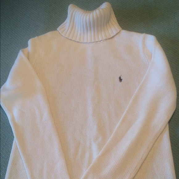 Polo by Ralph Lauren - Polo - Cream colored turtleneck sweater ...