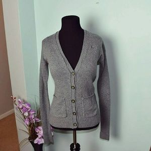 Abercrombie & Fitch Sweaters - Abercrombie & Fitch Grey Button Up Cardigan