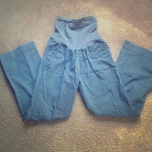Maternity Cargo Pants Gray Motherhood Maternity M