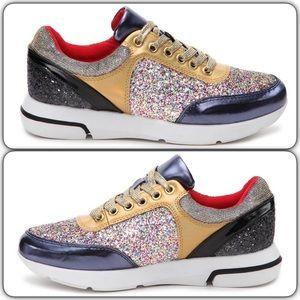 Madden Girl Shoes - Madden Girl Hayyes Glitter Sneakers, NEW!