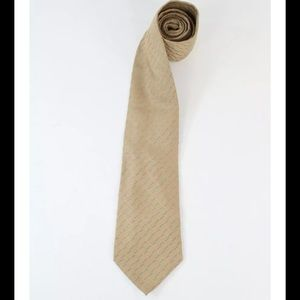 Charvet Other - Place Vendome Peach Green Silk Embroidered Tie