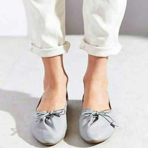 Urban Outfitters Kimchi Blue Grey Leather Flats