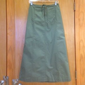 J. Crew Dresses & Skirts - J.CREW Long Cargo Skirt, Olive, Size 4