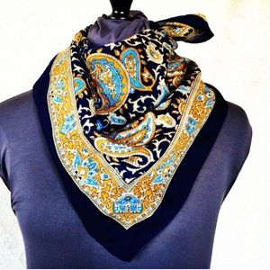 Accessories - Blue and gold Paisley scarf