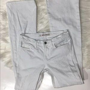 J Brand Denim - J Brand White Mid rise Flare jeans