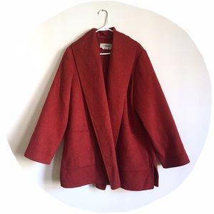 Marina Rinaldi Jackets & Blazers - ⬇️ MaxMara Marina Rinaldi Virgin/Angora Wool Coat