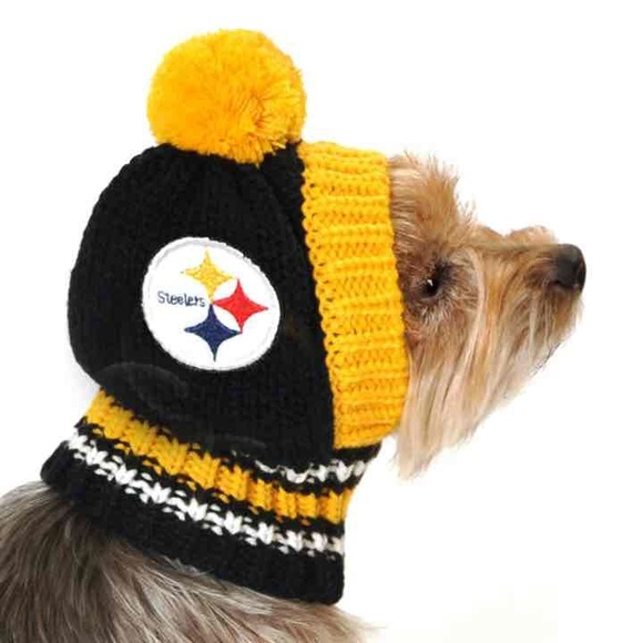 Pittsburgh Steelers Nfl Dog Knit Hat Nwt